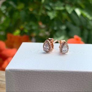 New Pandora Rose Gold Teardrop Earrings